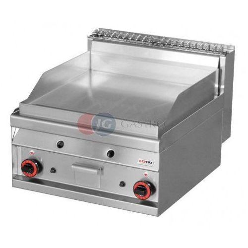 Grille gastronomiczne, Płyta grillowa gazowa podwójna 1/2 gładka 1/2 ryflowana chromowana Red Fox linia 700 FTLR - 6 GS