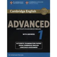 Książki medyczne, Camb English Advanced 1 for updated exam: Student's Book with answers egzamin 2015 (opr. miękka)