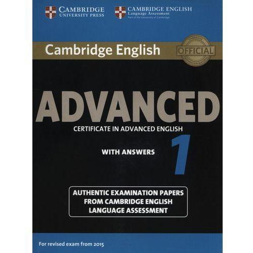 Książki o zdrowiu, medycynie i urodzie, Camb English Advanced 1 for updated exam: Student's Book with answers egzamin 2015 (opr. miękka)