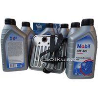 Oleje przekładniowe, Filtr oraz olej Mobil ATF-320 skrzyni biegów Jeep Grand Cherokee 1998-2004