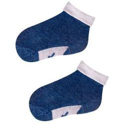 Skarpetki dla niemowlaka Niebieski z jasnoszarym wywinięciem 6-9