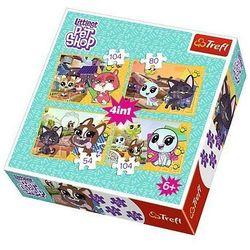 Puzzle 4w1 - Littlest Pet Shop, Mile wspomnienia - DARMOWA DOSTAWA OD 199 ZŁ!!!