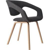 Fotele, Zuiver Fotel FLEXBACK naturalny/ciemny szary 1200096