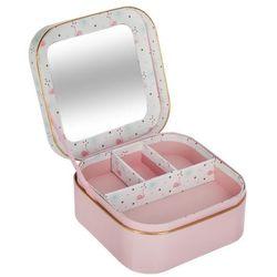 Szkatułka z lusterkiem, pudełko na drobiazgi, biżuterię