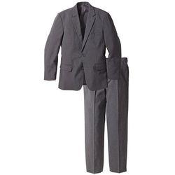Garnitur (2 części): marynarka + spodnie bonprix szary melanż