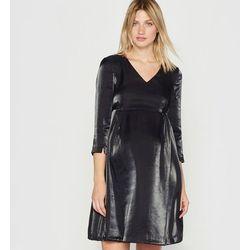 Sukienka ciążowa, efekt metaliczny