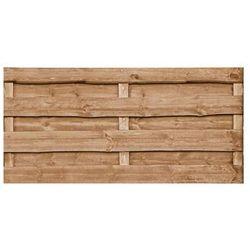Płot szczelny 90x90 cm drewniany olcha NEVADA WERTH-HOLZ