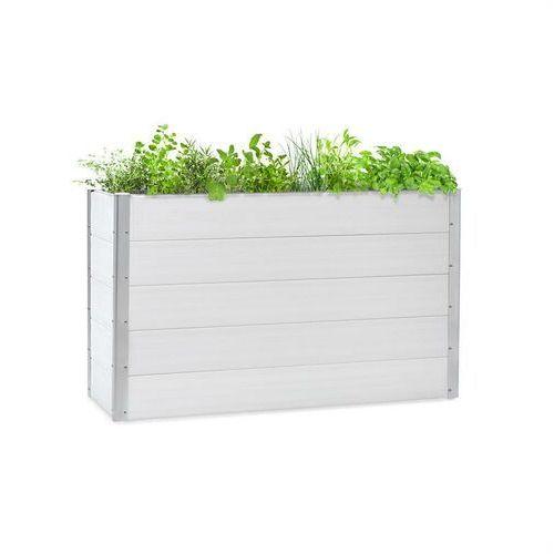 Doniczki i podstawki, Blumfeldt Nova Grow, podniesiona grządka, 150 x 91 x 50 cm, WPC, imitacja drewna, biała