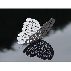 Ozdobne motylki białe - 14 cm - 10 szt.