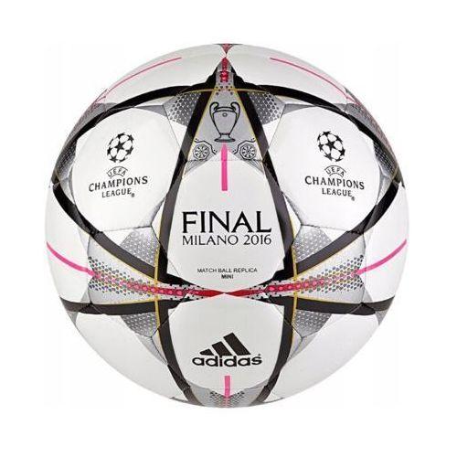 Piłka nożna, adidas Performance FINALE MILANO MINI Piłka do piłki nożnej white/black/silver metallic