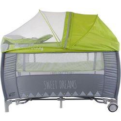 Łóżeczko z pełnym wyposażeniem Sweet Dreams zielone Sun Baby SD995/GZ