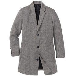 Płaszcz z wykładanym kołnierzem bonprix czarno-biały melanż