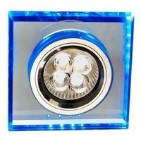 Oprawy, Oprawa oczkowa kwadratowa LED 1 x 50 W GU10 niebieska