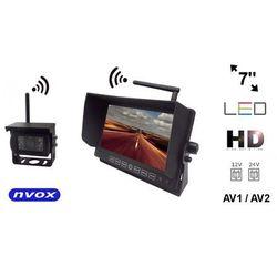 """NVOX HM712W Bezprzewodowy zestaw cofania z monitorem LED 7"""" cali HD oraz kamerą bezprzewodową 12V 24V"""