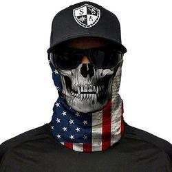 SA Co. Chusta Wielofunkcyjna Face Shield™ American Flag Skull - American Flag Skull