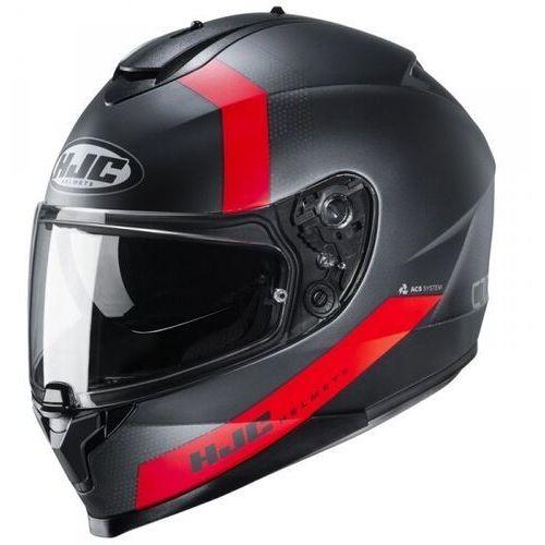 Kaski motocyklowe, Hjc kask integralny c70 eura black/red
