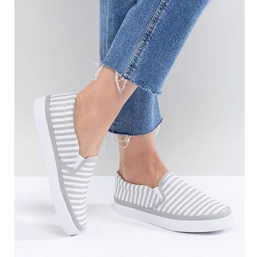 Damskie obuwie sportowe, ASOS DESIGN Dab Stripe Plimsolls - Grey