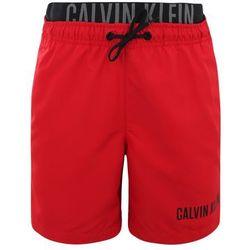 Calvin Klein Swimwear MEDIUM DOUBLE WAISTBAND Szorty kąpielowe salsa