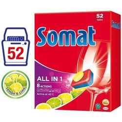 Tabletki do mycia naczyń w zmywarkach Somat All in One Lemon & Lime 936 g (52 sztuki)