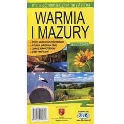 Warmia i Mazury mapa administracyjno-turystyczna 1:250 000