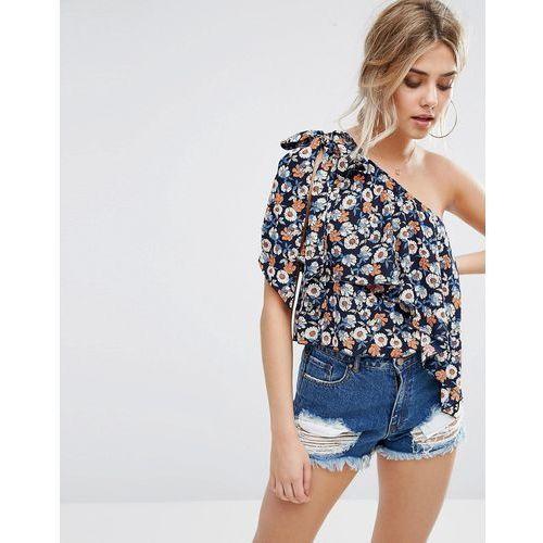 Topy, Boohoo Ditsy Floral Print One Shoulder Top - Multi