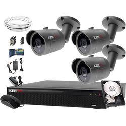 Monitoring domu prywatnego zestaw: Rejestrator LV-XVR44SE-II, 3x Kamera LV-AL30HT, 1TB, akcesoria