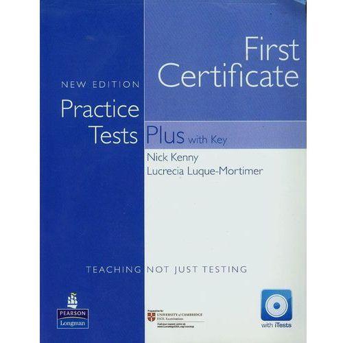 Książki do nauki języka, FCE Practice Tests Plus New Edition with Key plus iTest CD-ROM plus Audio CD (opr. miękka)