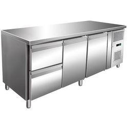 Stół chłodniczy 2-drzwiowy z szufladami