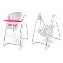 Lionelo Huśtawka bujaczek Milan Plus Krzesełko do karmienia różowe