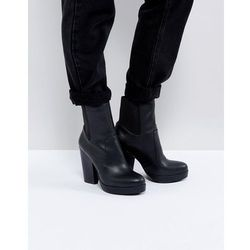 ASOS EARTHLING High Ankle Boots in Water Based PU - Black
