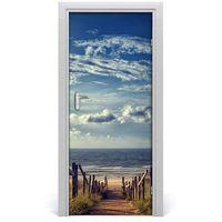 Naklejki na ściany, Naklejka na drzwi samoprzylepna Ścieżka na plażę