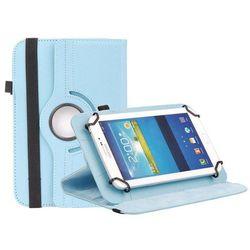 Uniwersalne etui obrotowe niebieskie do tabletów 8 cali - Niebieski