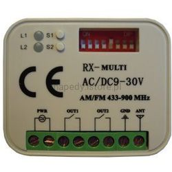 Odbiornik pasuje: FAAC 868Mhz FORTEC R2 - 2 kanały