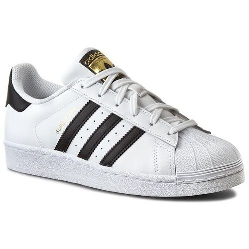 Buty sportowe dla dzieci, Buty adidas - Superstar J C77154 Ftwwht/Cblack/Ftwwht