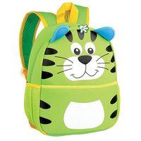 Tornistry i plecaki szkolne, Plecak neoprenowy Tygrys zielony - Spokey