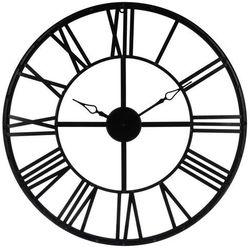 Czarny zegar na ścianę Ø 70 cm, nowoczesny zegar, duży zegar, zegar do salonu, czarny zegar, zegar dekoracyjny, zegar ścienny metalowy
