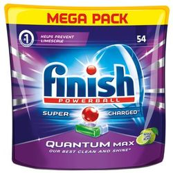 FINISH 54szt Powerball Quantum Max Jabłko i limonka Tabletki do zmywarki