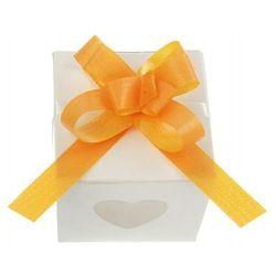 Wstążki ściągane na ślub - mango 1 cm 50 szt.