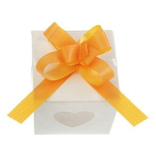 Pozostałe na ślub i wesele, Wstążki ściągane na ślub - mango 1 cm 50 szt.