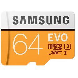 Samsung 64GB, MicroSDXC EVO 64GB MicroSDXC UHS-I Klasa 10 pamięć flash