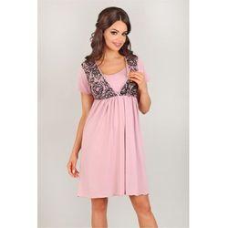 Koszulka nocna Koszula Nocna Model 3006 Pink/Black - Lupo Line