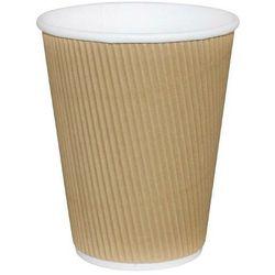 Kubki kartonowe do kawy | karbowane | jednorazowe | 230 lub 350ml | 25szt.