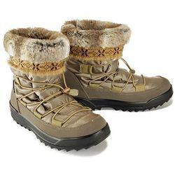 MANITU 991454-8 beige, śniegowce damskie