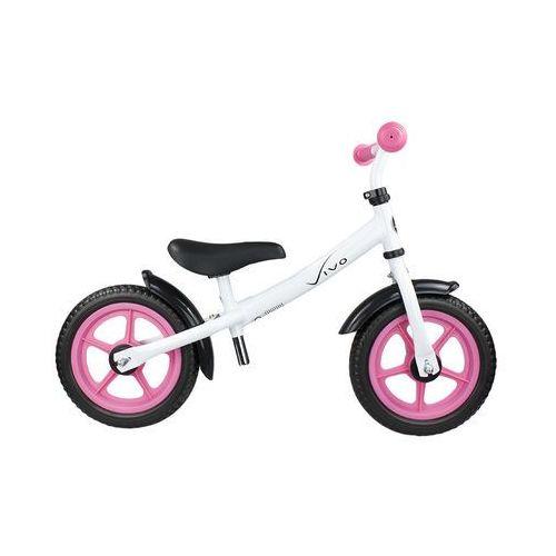 "Rowerki biegowe, Rowerek biegowy Vivo V4.0 12"" EVA white pink"