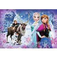 Puzzle, Puzzle Frozen/Ledové království Zimní dobrodružství 41x27,5cm 160 dílků v krabici 29x19x4cm