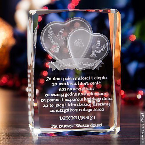 Podziękowania dla rodziców i gości, Podziękowania dla rodziców »Serca 3D« z Twoją dedykacją • GRAWER 3D