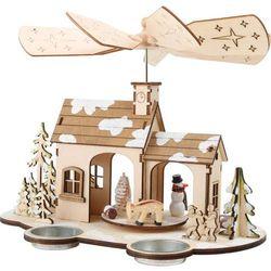 Szopka Boże Narodzenie z miejscem na świeczki
