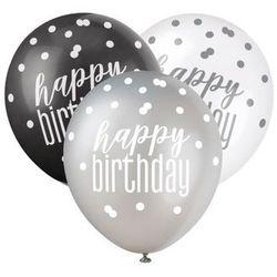 Balony lateksowe Happy Birthday - 6 szt.