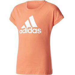 adidas Performance LOGO Tshirt z nadrukiem easy coral/white