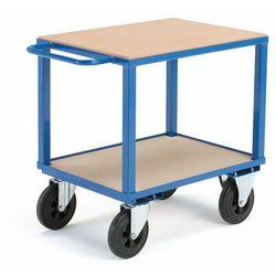 Wózek warsztatowy, bez hamulców, 2 koła skrętne, 600 kg, 800x600x830 mm